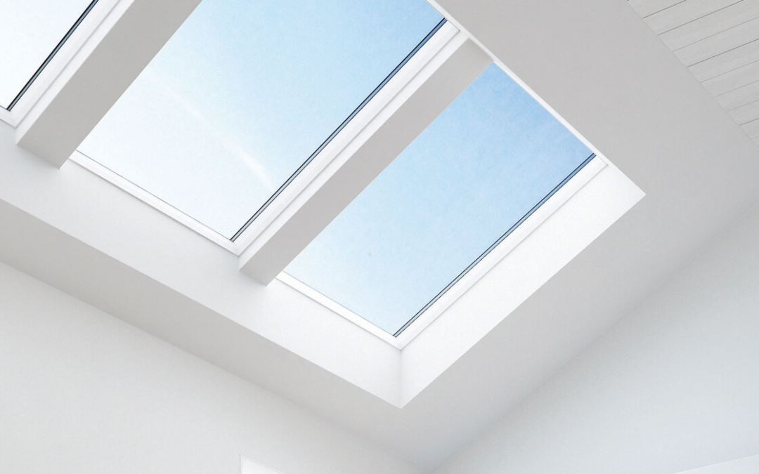 white finish roof windows