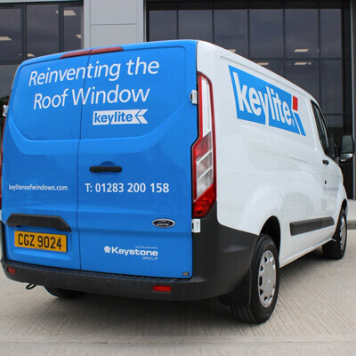 Keylite Van with branding
