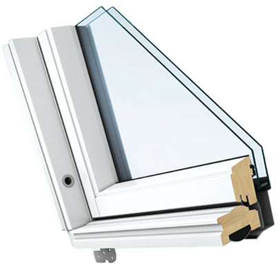 Our White Painted roof window is painted with a clean coat of white paint
