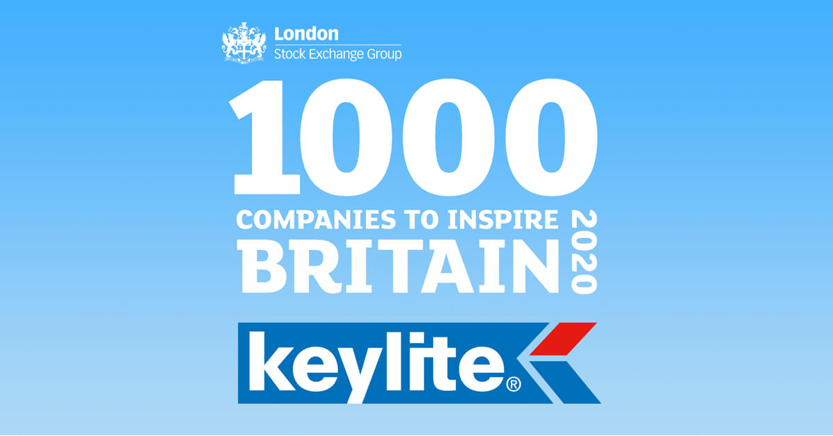 Keylite Roof Windows recognised as one of 1,000 companies to inspire Britain.