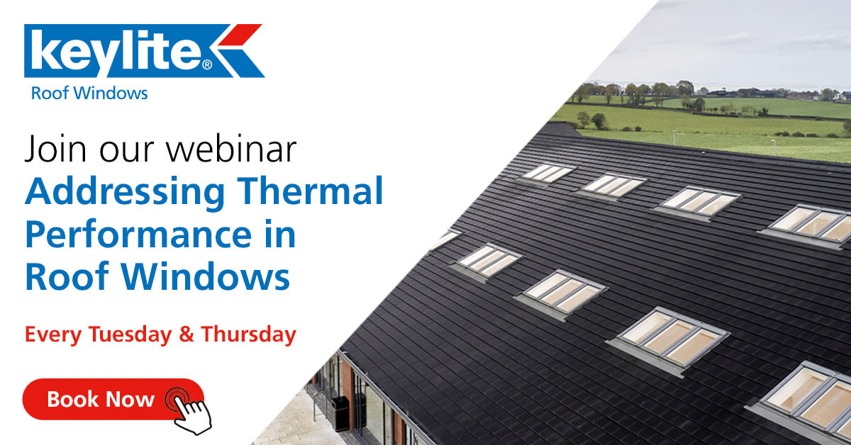 Keylite announces new CPD webinar focusing on thermal performance in roof windows
