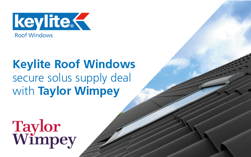 Keylite Roof Windows Secure Solus Supply Deal with Taylor Wimpey